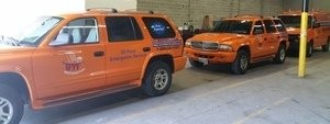 Water Damage Restoration Suvs At Warehouse