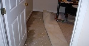 Water Damage In One Of The Homes Affected By The Power Outage