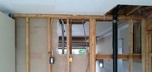 Water Damage Restoration On Wall